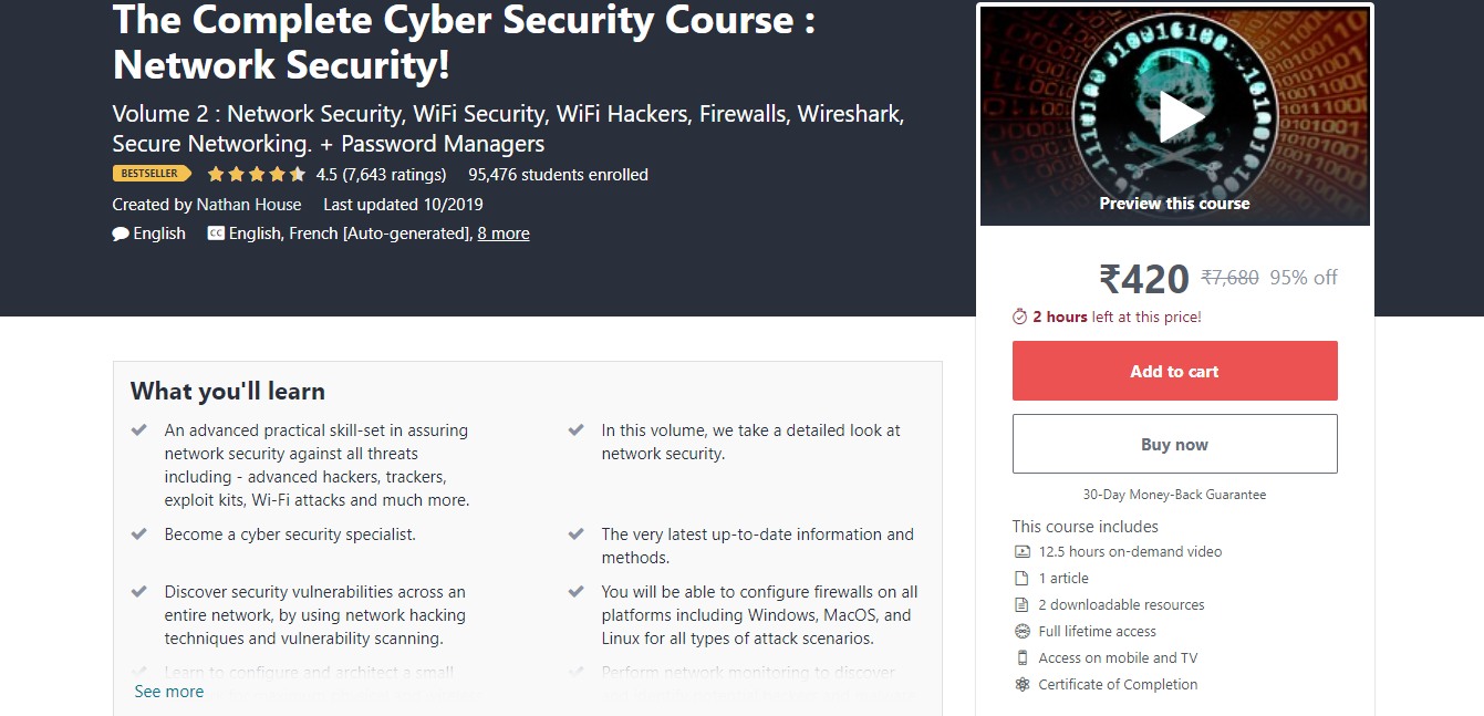 The Complete Cyber Security Course : Network Security