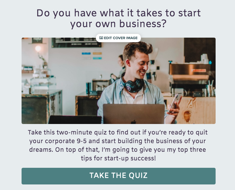 quiz cover page