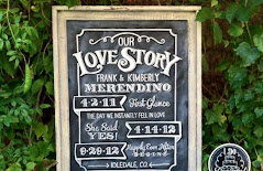 blackboard chalk wedding our story
