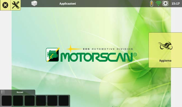 MOTORSCAN UNIT MAIN SCREEN ANSED DIAGNOSTIC SOLUTIONS