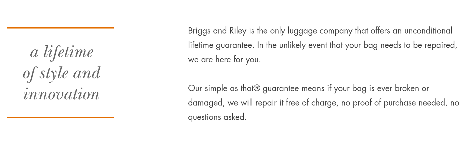 Briggs_Riley_lifetime_repair_policy