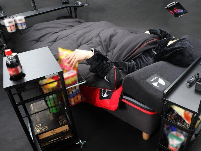 Xuất hiện chiếc giường trong mơ: Nằm cả ngày cày game cũng được - Ảnh 3.