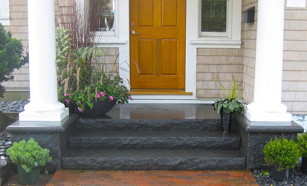Cambrian Black Granite Steps