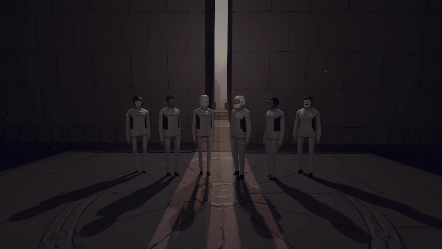 A group of people in a dark room  Description automatically generated with medium confidence