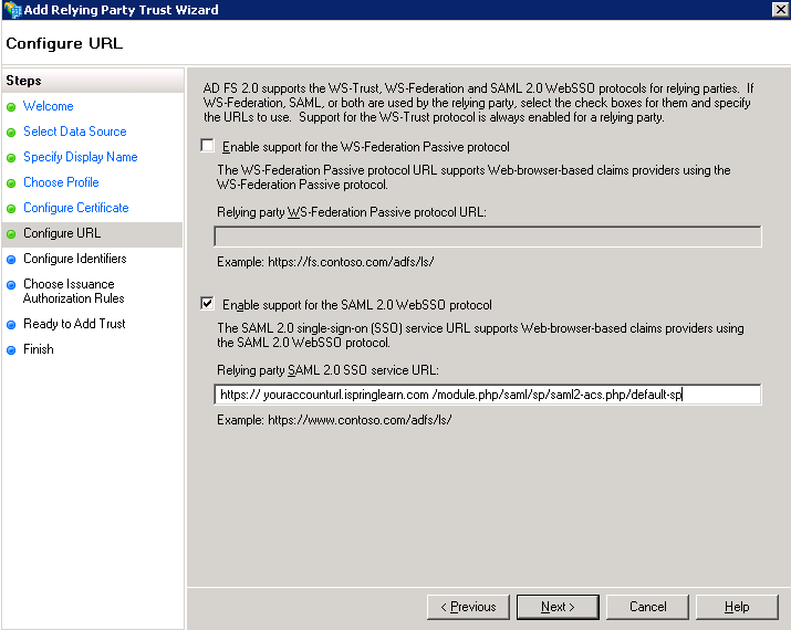 Steps to configure SAML 2 0 SSO with Microsoft Active Directory