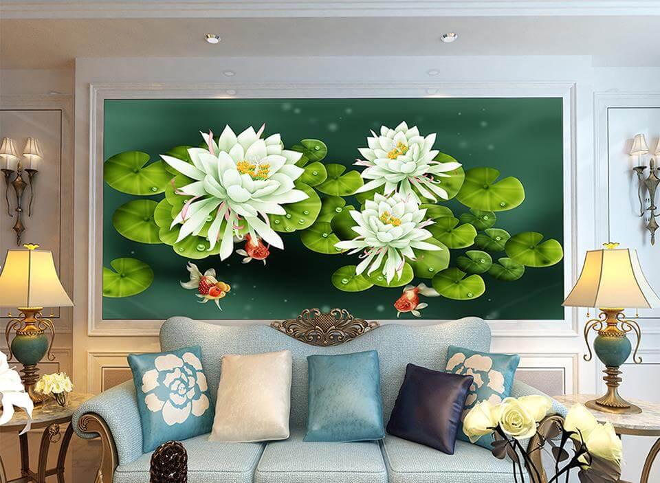 Chú trọng đến màu sắc tranh treo tường để tăng tính thẩm mỹ cho không gian