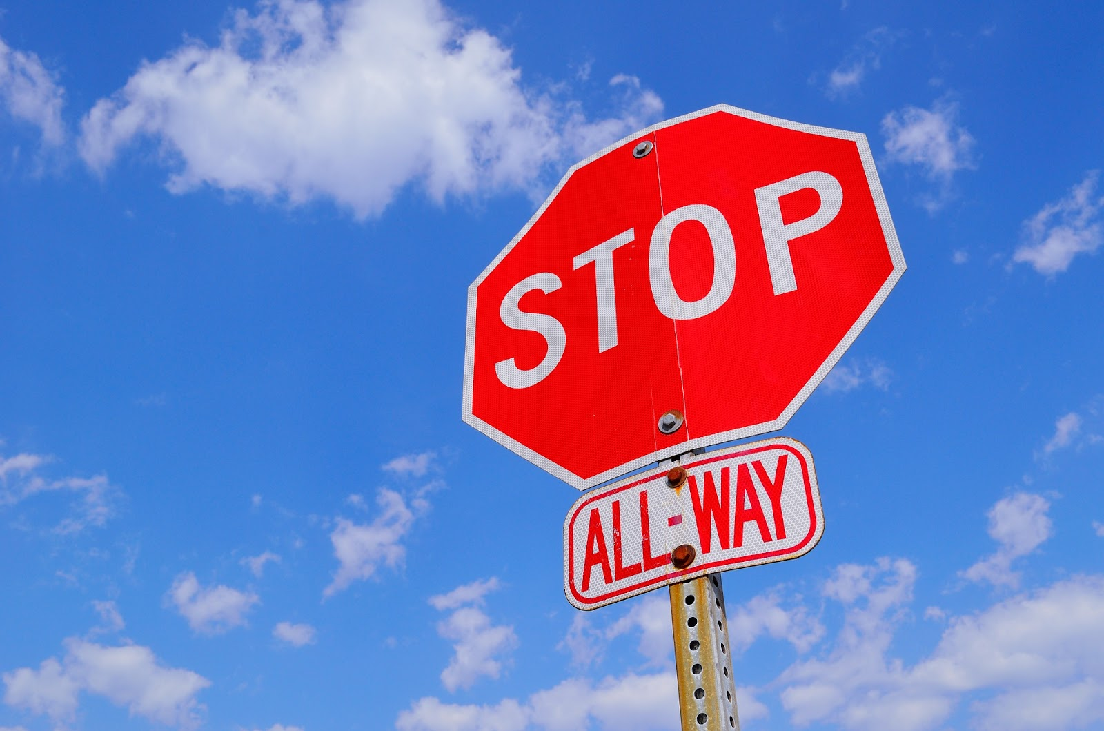 Stop sign in reference to not be a cannibal