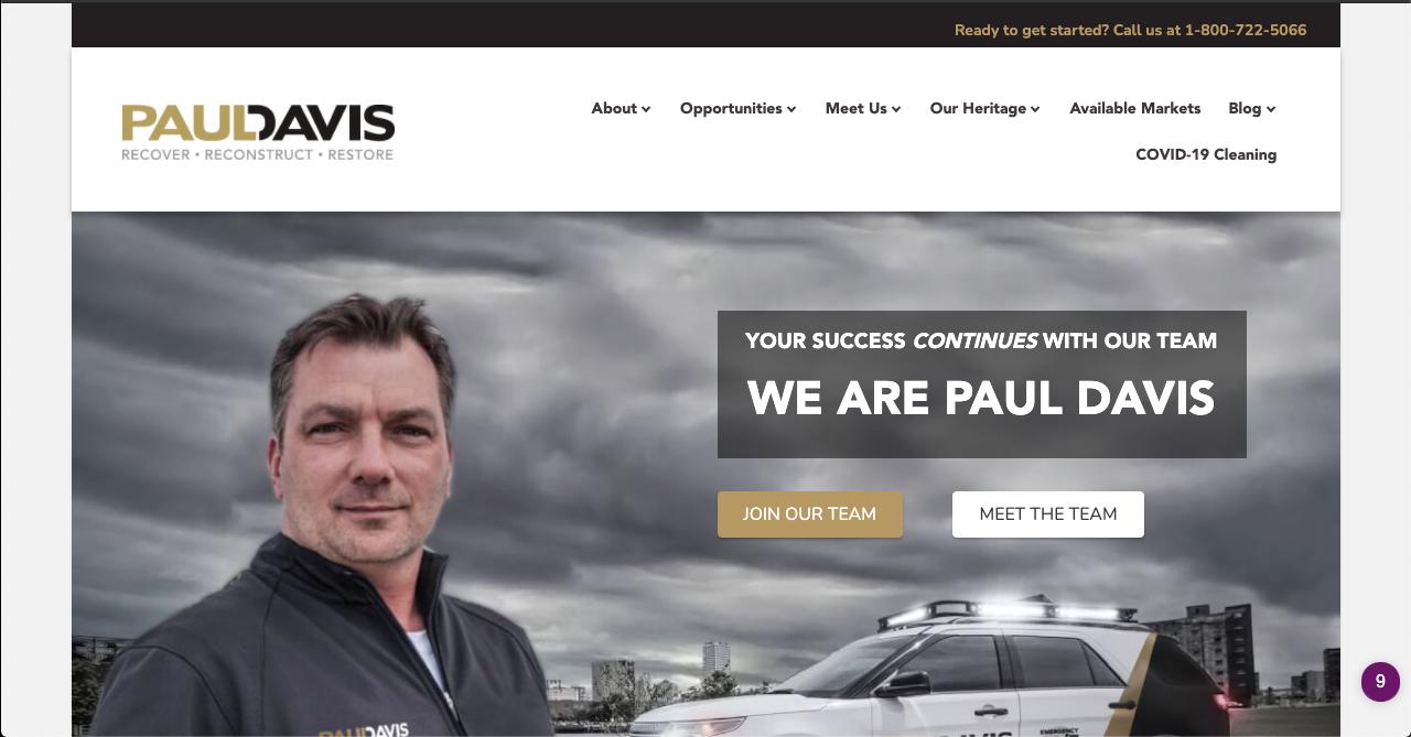 Paul Davis website for franchise leads