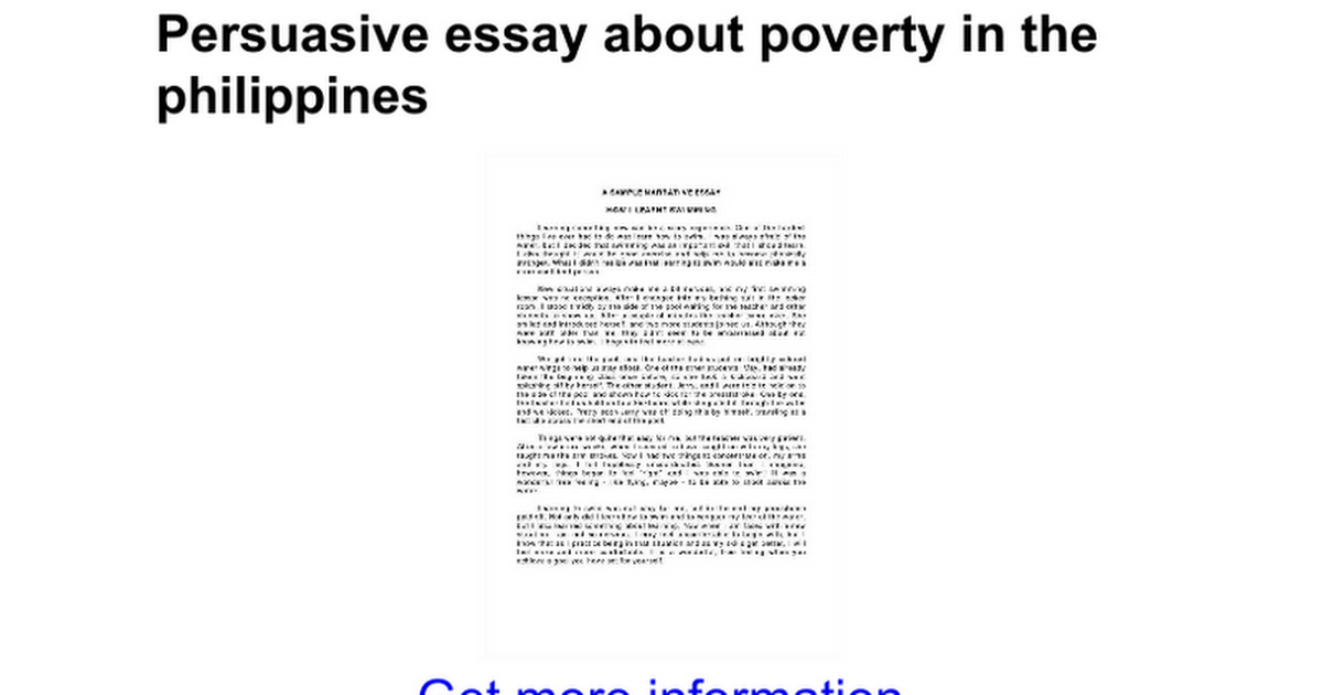 Argumentative essay on poverty in america