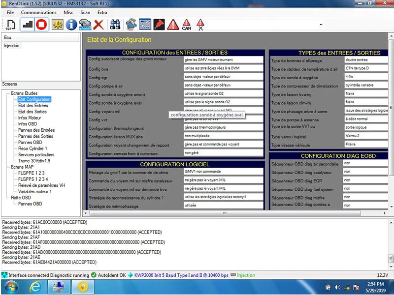 Renolink OBD2 For Renault ECU Programmer Software V1.52