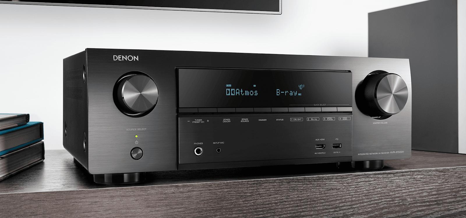 Amply Denon AVR-X1500H thế hệ mới, Amply xem phim, nghe nhạc hay, chính hãng