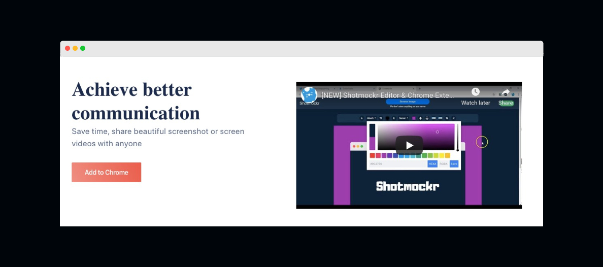 This is a screenshot from the webpage of Shotmockr.com