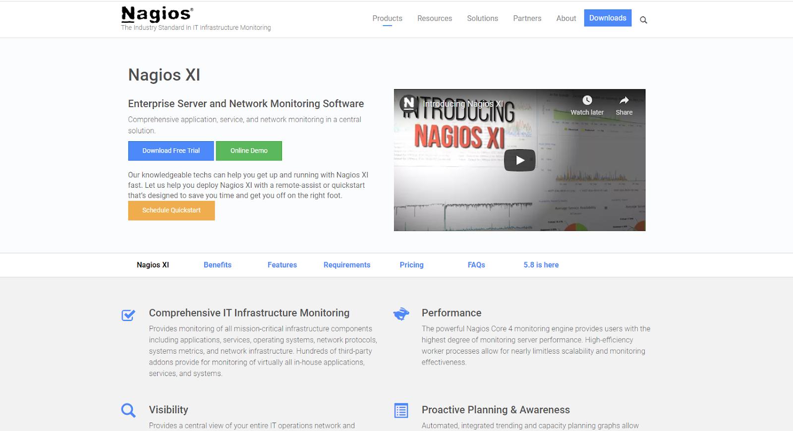 Nagios XI Network Monitoring Tool
