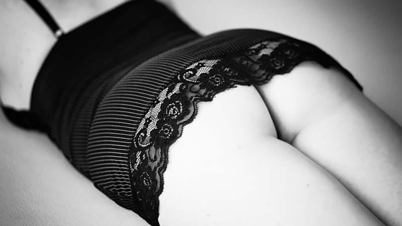 A woman's butt