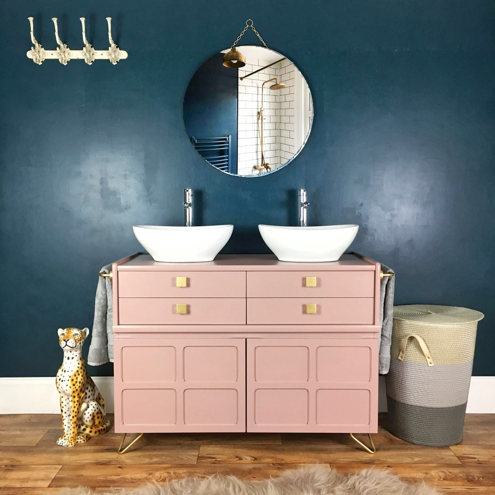Bespoke vintage bathroom vanity