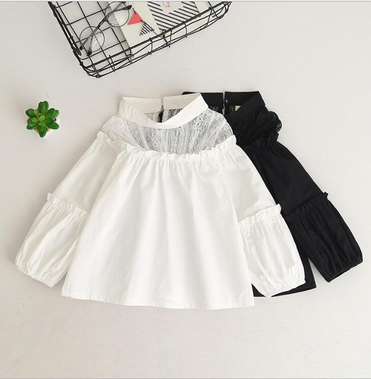 Biała wizytowa bluzka dziewczęca