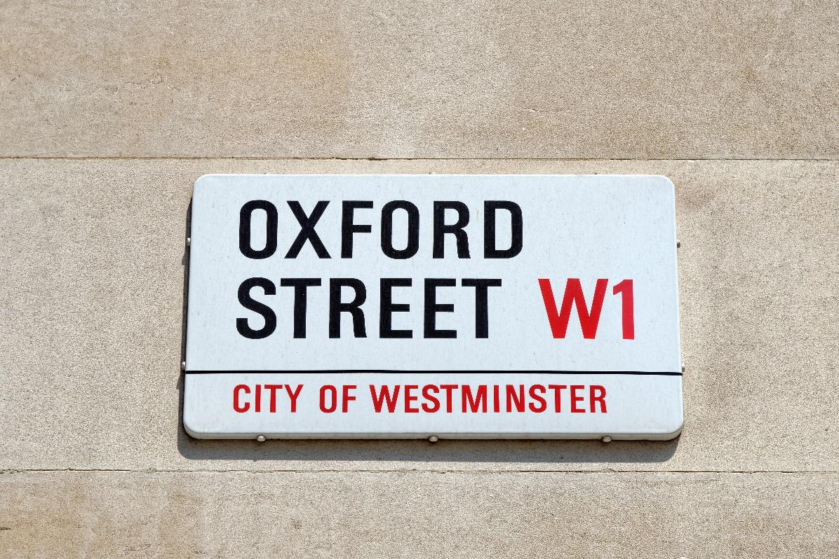 Oxford Street sign in London