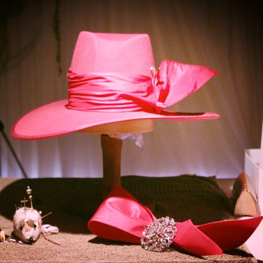 One of Jane Moy's creations at the Brisbane Millinery Fair