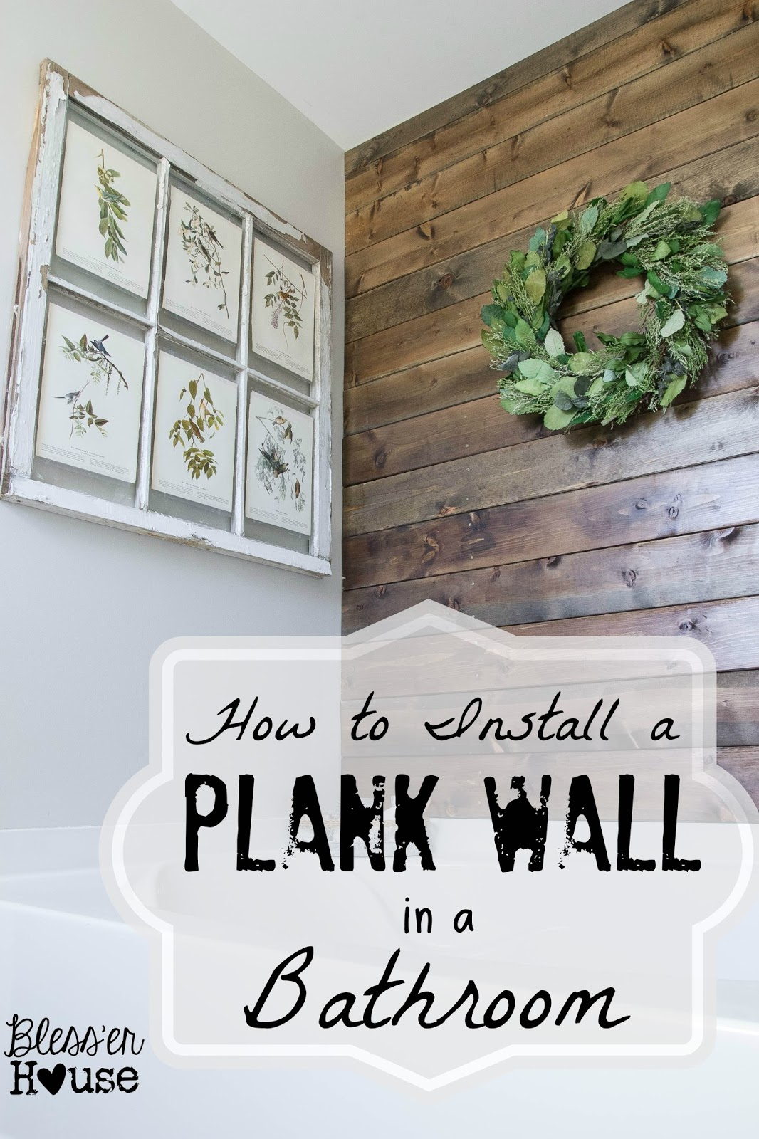 Plank Wall: These 50 Cheap & Easy Farmhouse Decor Ideas will help you save money and transform your space.
