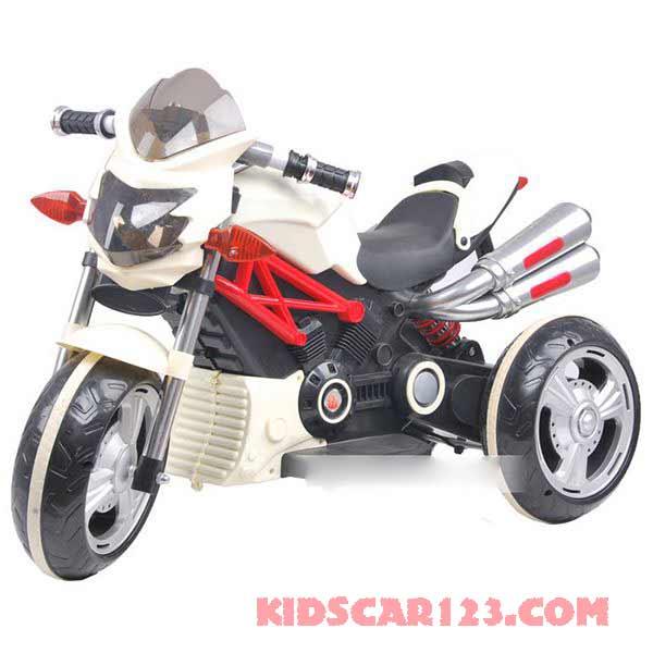 xe máy điện trẻ em 3212 màu đỏ màu trắng