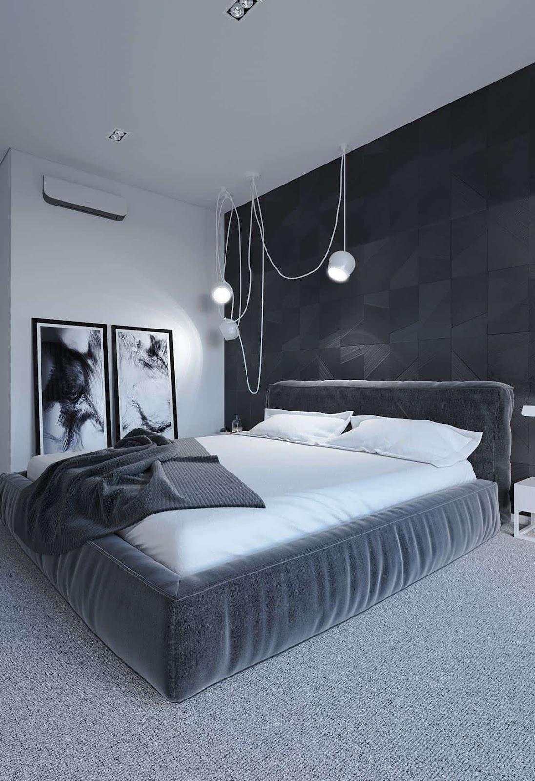Soft Black Paint Color for Bedroom
