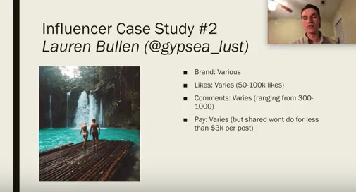 affordable instagram influencer example from ecommerce university