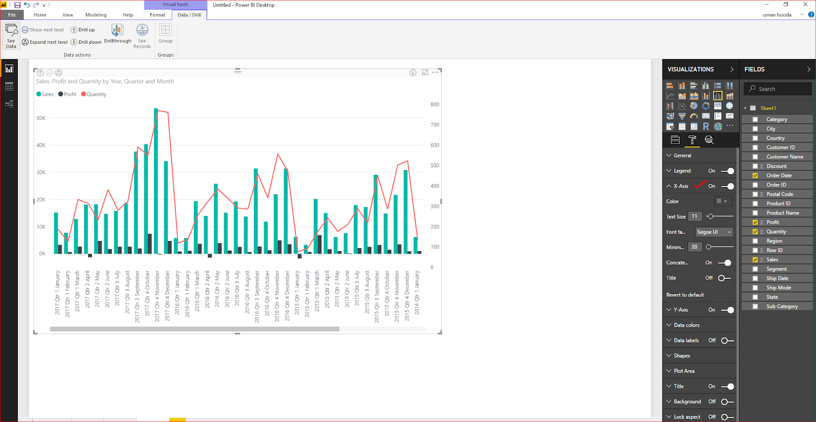 Dual Axis Chart in Microsoft Power BI - Step By Step 43