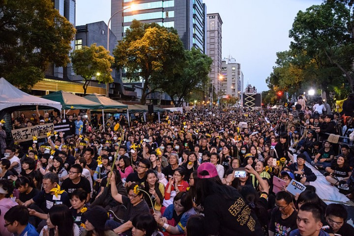 2014年的太阳花运动是台湾群众反对中国帝国主义沙文主义的表现,但也反映了资本主义体制日益增长的危机。 //图片来源:Artemas Liu