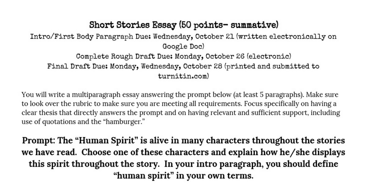short stories in essays quoting Start studying the rules of quotation marks when quoting a passage that to quote titles and subtitles of short works like short stories, poems, essays.