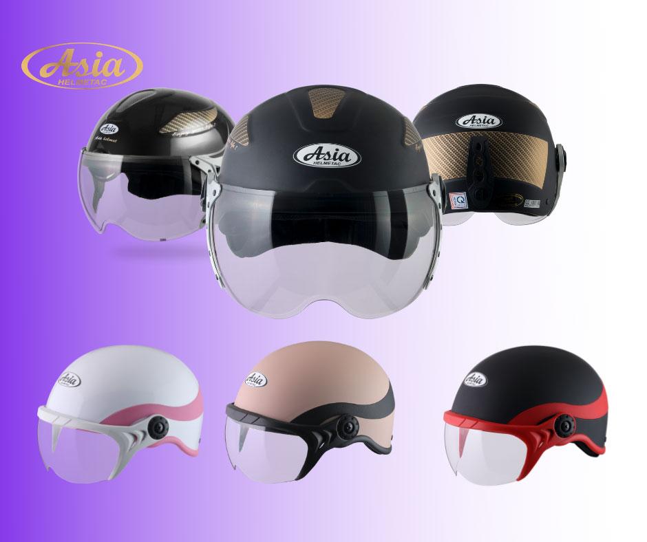 mũ bảo hiểm có kính Asia