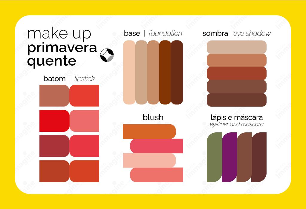 Maquiagem da Primavera Quente