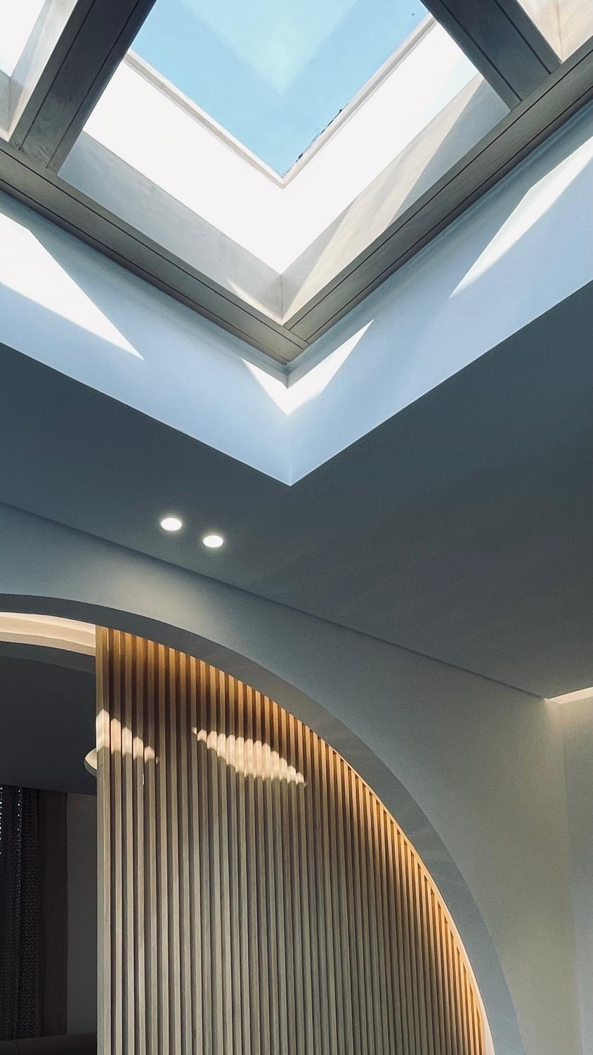 A picture containing ceiling, indoor, window  Description automatically generated