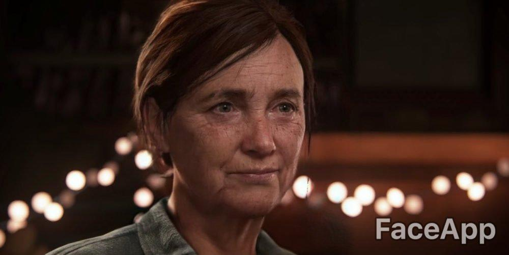 faceapp, aged ellie, the last of us part II