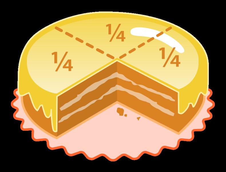 File:Cake quarters.svg