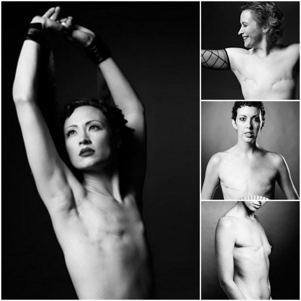 Imágenes del proyecto Scar (mujeres mastectomizadas).
