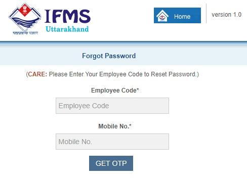 IFMS Uttarakhand EKosh Portal Login Password