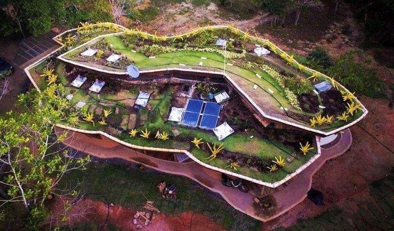 Casa sustentável na Bahia