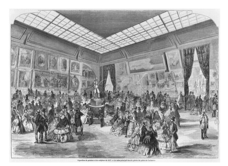 Salon de 1857 paris salon exhibitions 1667 1880 for Salons de paris