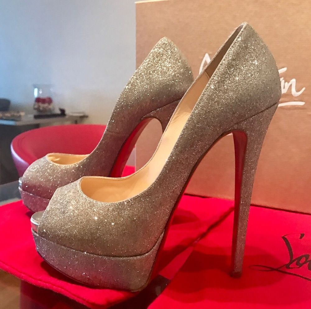 Glittery pencil heels
