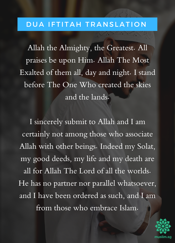 makna doa iftitah