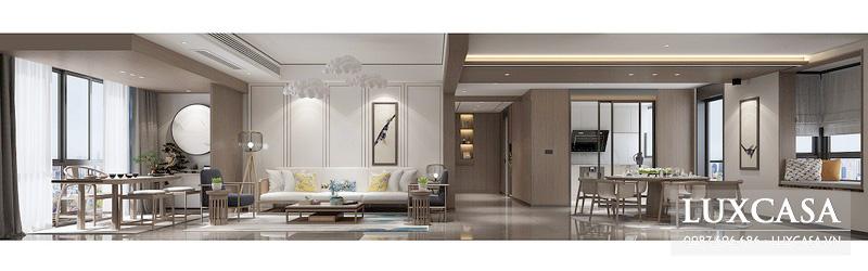 Tổng hợp các mẫu phòng khách chung cư được công ty Luxcasa thực hiện