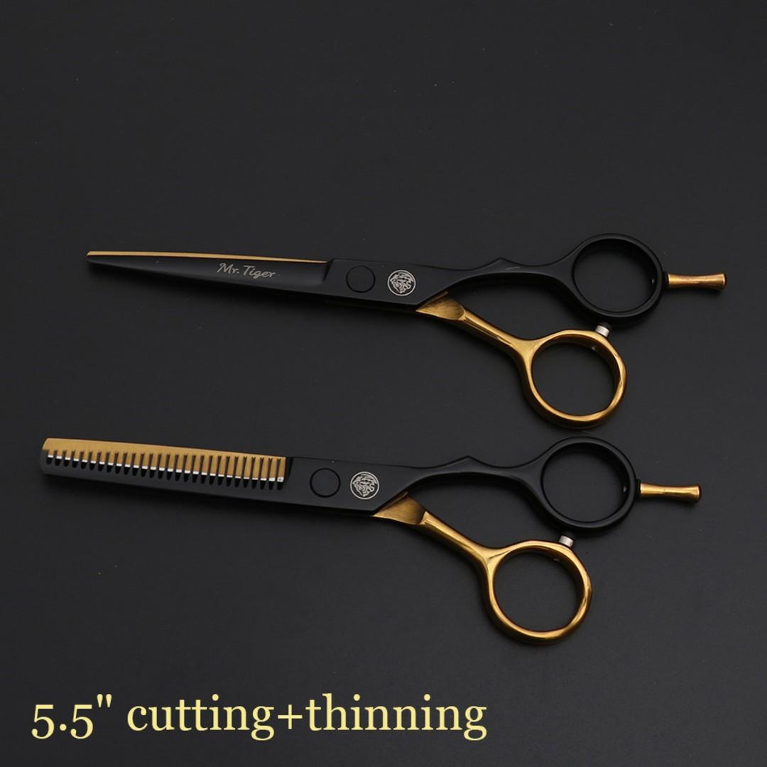 Mr Tiger Japan Original 5 5 6 0 Professional Hairdressing Barber Scissors Set Ebay