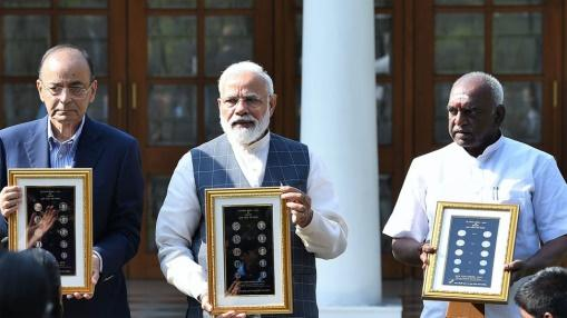 Image result for PM releases new series of visually impaired friendly coins