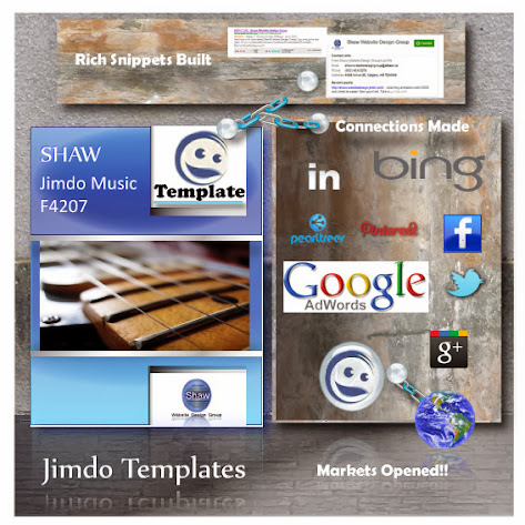 Jimdo Music Template : Theme F4027Shaw