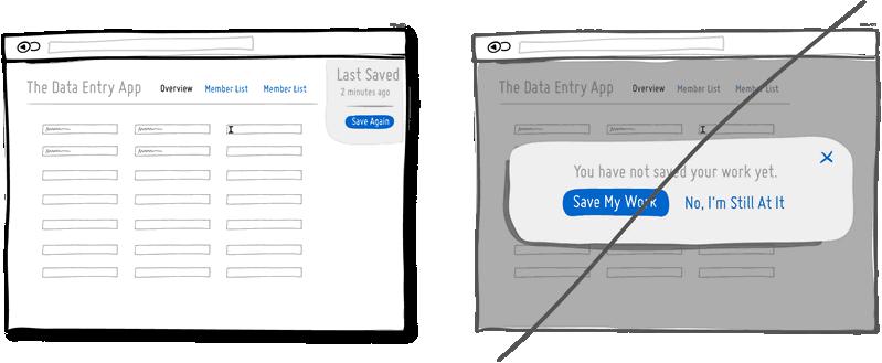 Попробуйте простые подсказки вместо модальных окон