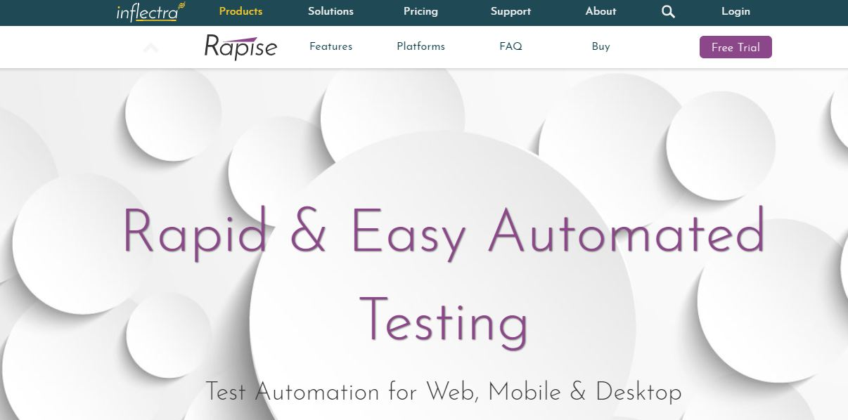Inflectra Rapise is one of the Robotic Process Automation Software