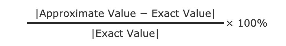 percent error formula
