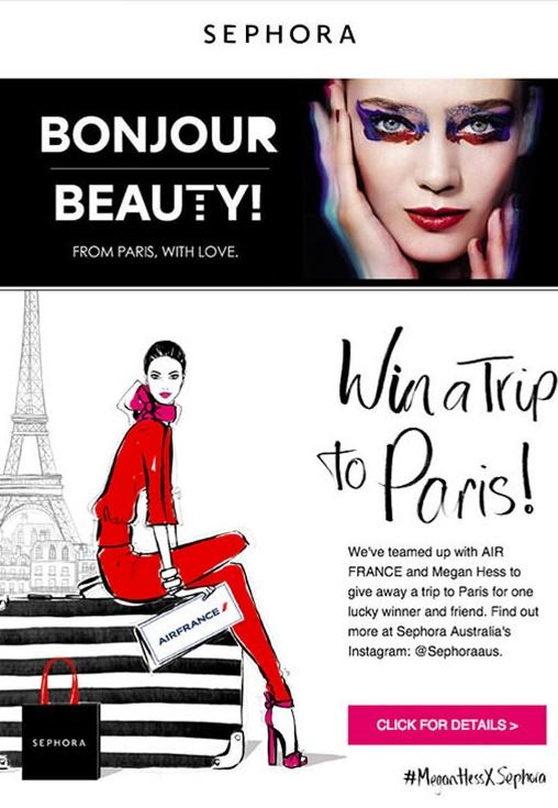 Sephora - Email Marketing Campaign - Incentive Email