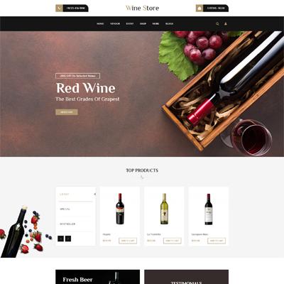 wine opencart theme mixbucket