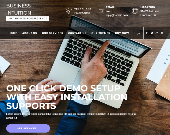 Business Intuition Free WordPress Theme